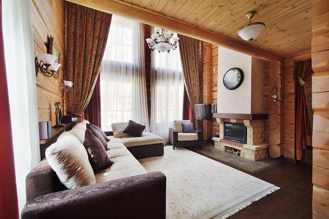 Фото гостиных в загородных домах