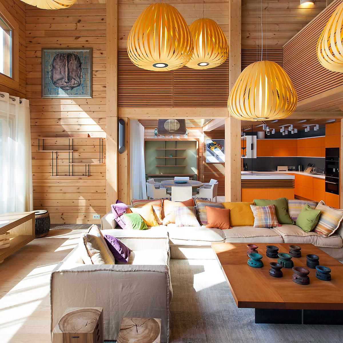 Загородный дом «», гостиная, фото из проекта