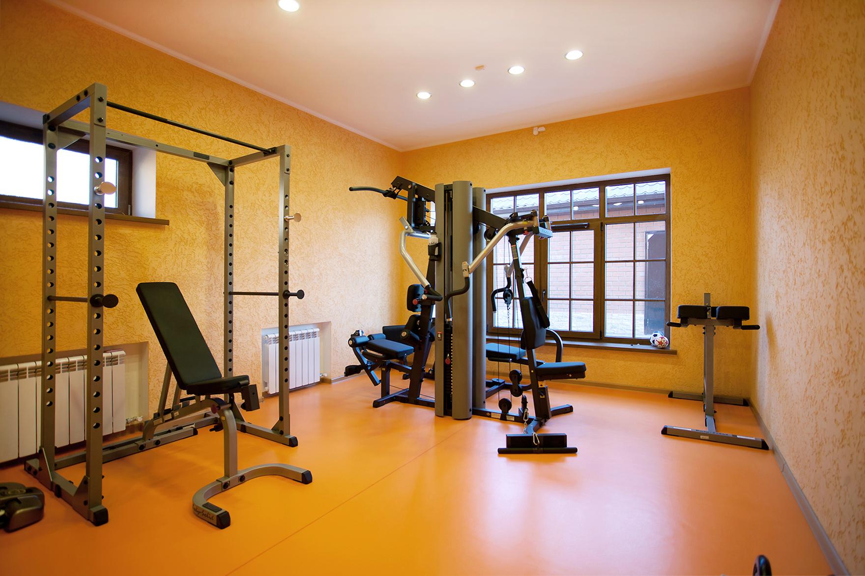 Загородный дом «», домашний спортзал, фото из проекта