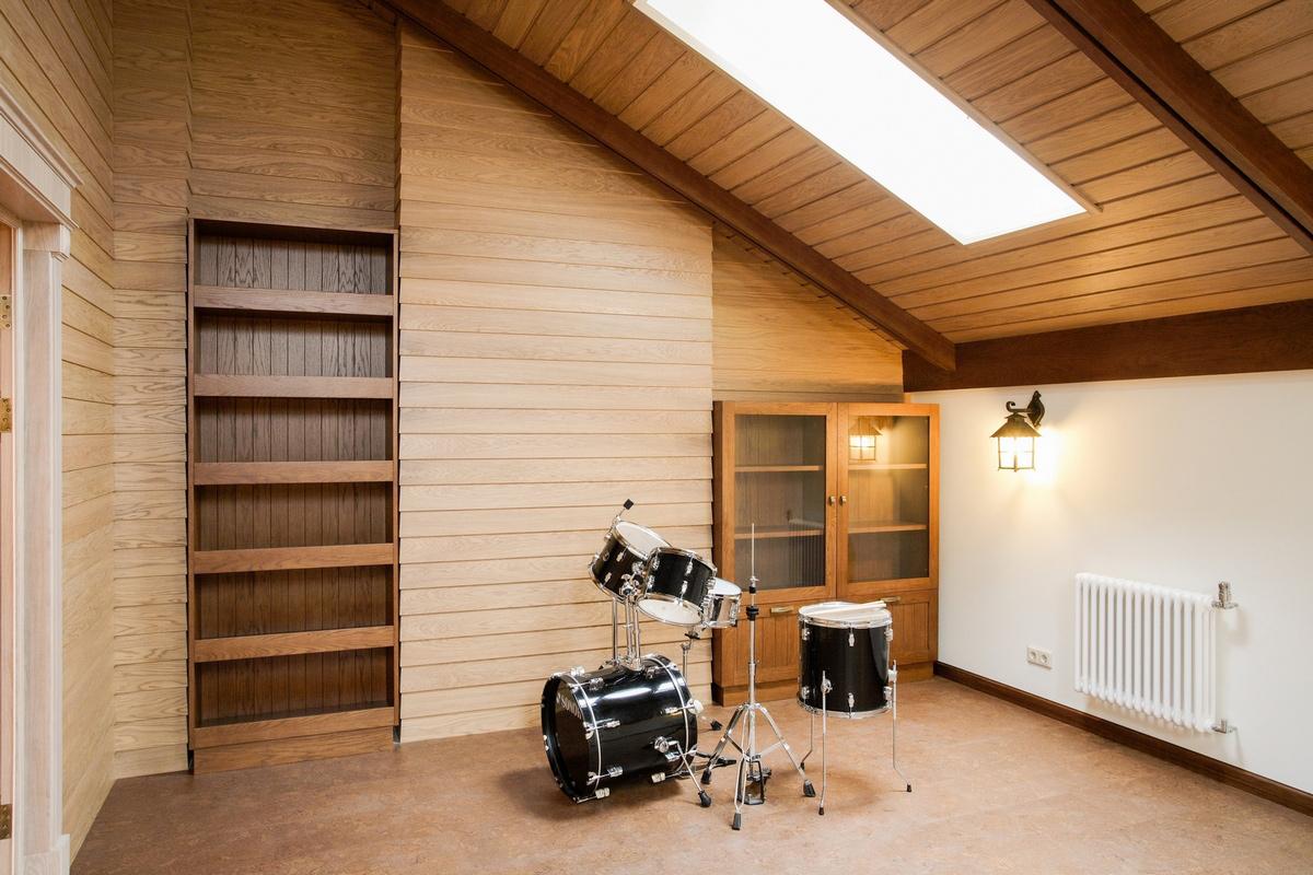 Загородный дом «», музыкальная комната, фото из проекта