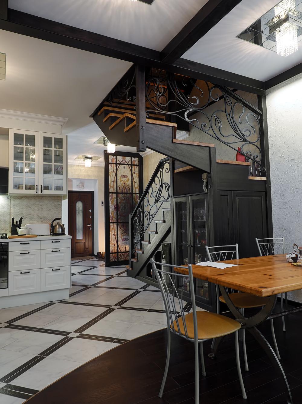 Загородный дом «Английский квартал», кухня, фото из проекта