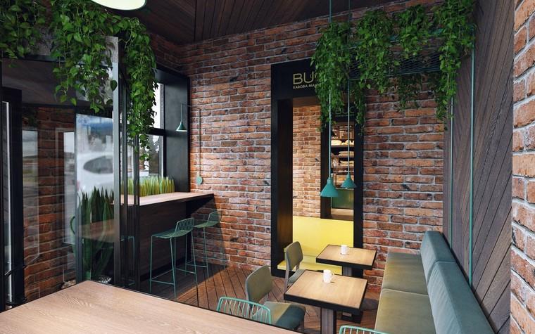 Кафе. Кафе из проекта Кофейня в стиле лофт по проекту студии интерьера Zooi, фото №78096