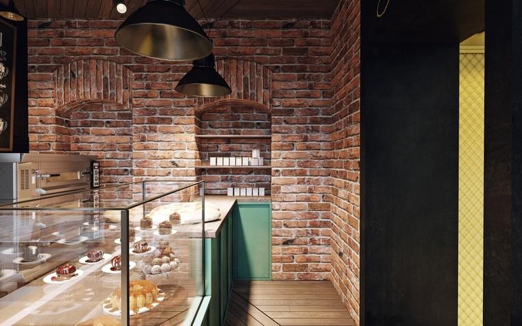 Кафе. Кафе из проекта Кофейня в стиле лофт по проекту студии интерьера Zooi, фото №78087