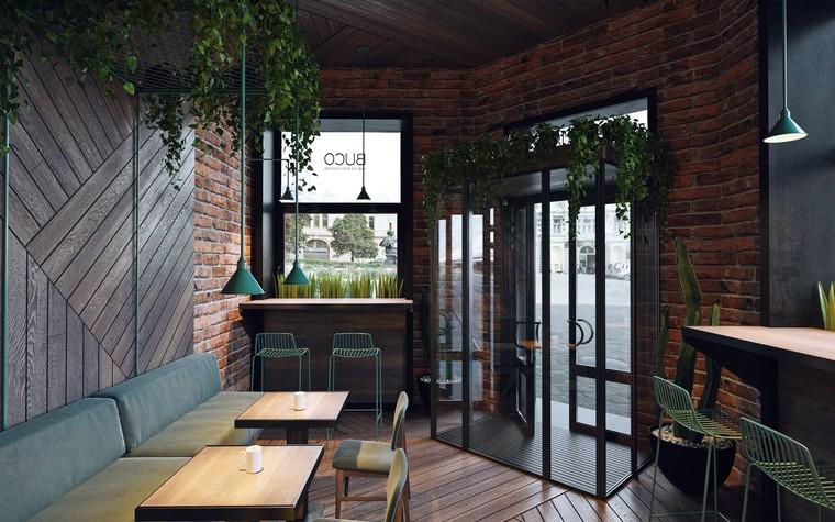 Кафе. Кафе из проекта Кофейня в стиле лофт по проекту студии интерьера Zooi, фото №78092