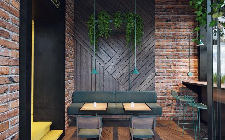 Кафе. Кафе из проекта Кофейня в стиле лофт по проекту студии интерьера Zooi, фото №78093