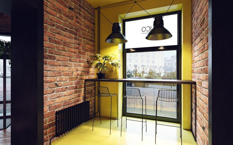 Кафе. Кафе из проекта Кофейня в стиле лофт по проекту студии интерьера Zooi, фото №78094
