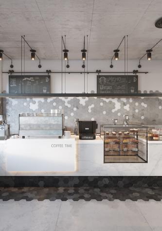 Кафе. Кафе из проекта Кофейня во Владивостоке. Уютный минимализм в стиле лофт., фото №79795