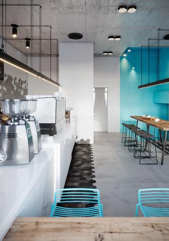 Кафе. Кафе из проекта Кофейня во Владивостоке. Уютный минимализм в стиле лофт., фото №79800
