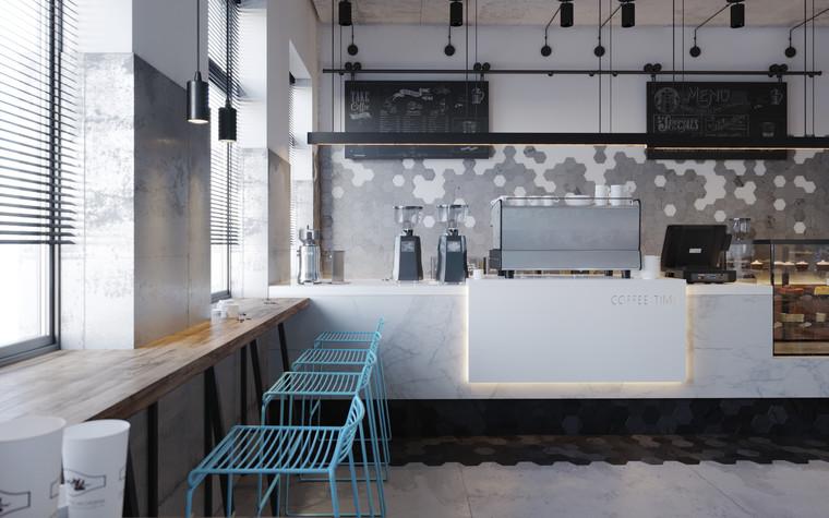 Кафе. Кафе из проекта Кофейня во Владивостоке. Уютный минимализм в стиле лофт., фото №79801