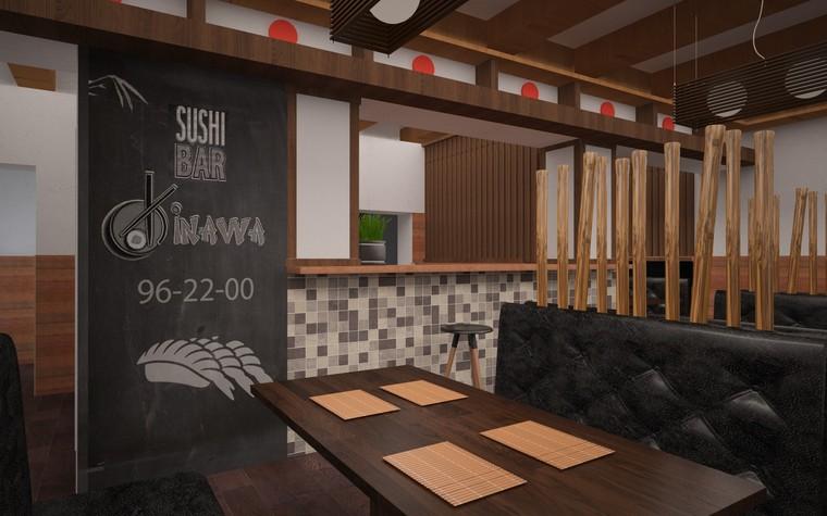 Кафе. Кафе из проекта Суши-бар, фото №81146