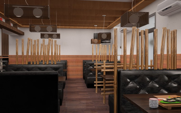 Кафе. Кафе из проекта Суши-бар, фото №81150