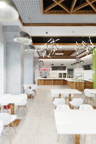 Кафе. Кафе из проекта Кафе быстрого питания в бизнес-центре «Фабрика», фото №98317