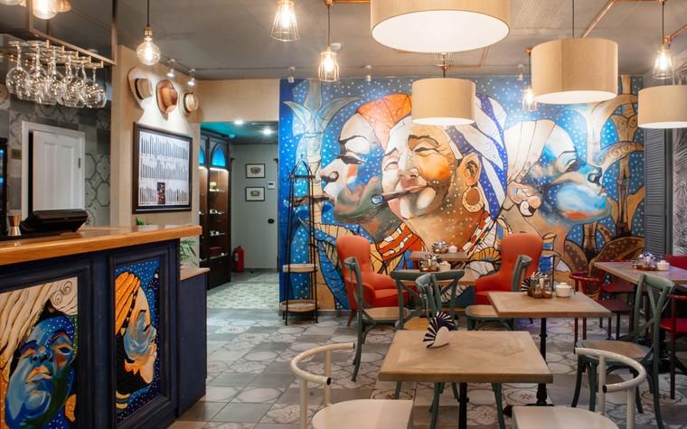 Кафе. Кафе из проекта Кафе-сигарный лаунж «Куба» на Кузнечном переулке, фото №98828