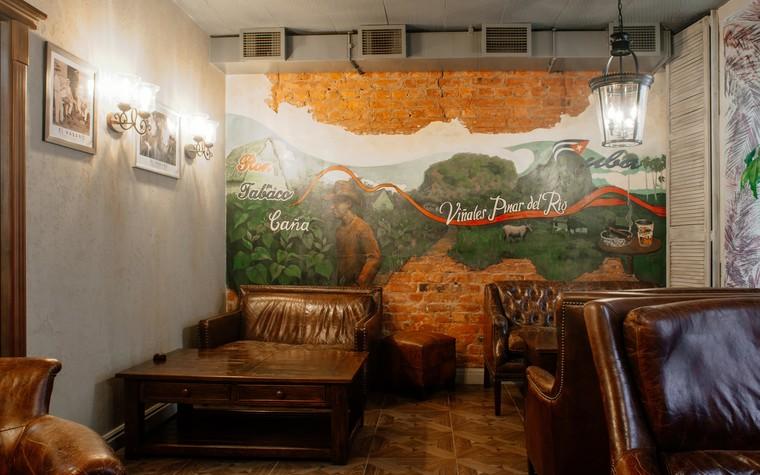 Кафе. Кафе из проекта Кафе-сигарный лаунж «Куба» на Кузнечном переулке, фото №98840