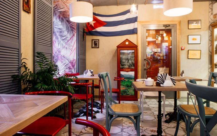 Кафе. Кафе из проекта Кафе-сигарный лаунж «Куба» на Кузнечном переулке, фото №98829