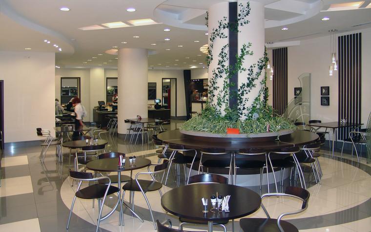 Кафе. Кафе из проекта Кафе в бизнес комплексе Деловой квартал, фото №100620