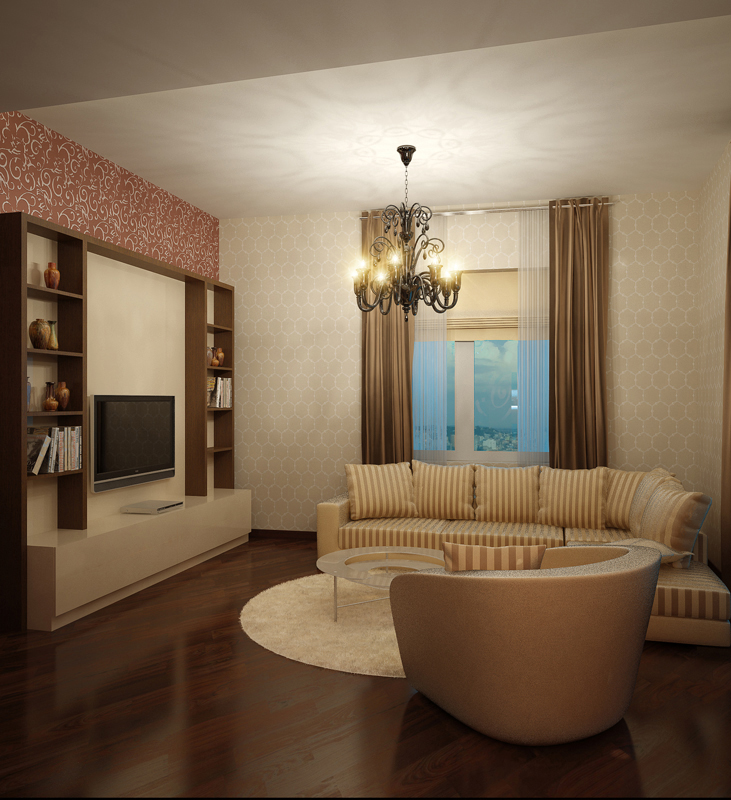 Фото № 10347 гостиная  Квартира