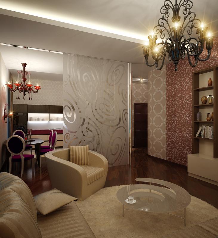 Фото № 10348 гостиная  Квартира