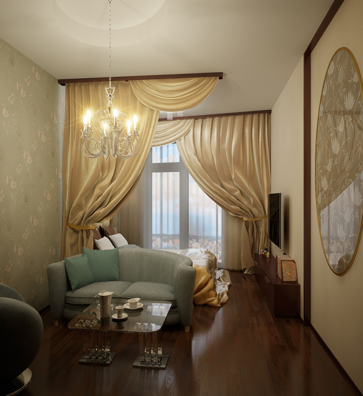 Фото № 10350 спальня  Квартира