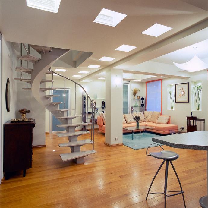 Фото № 10428 гостиная  Квартира