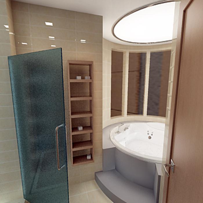 Квартира. ванная из проекта , фото №1458