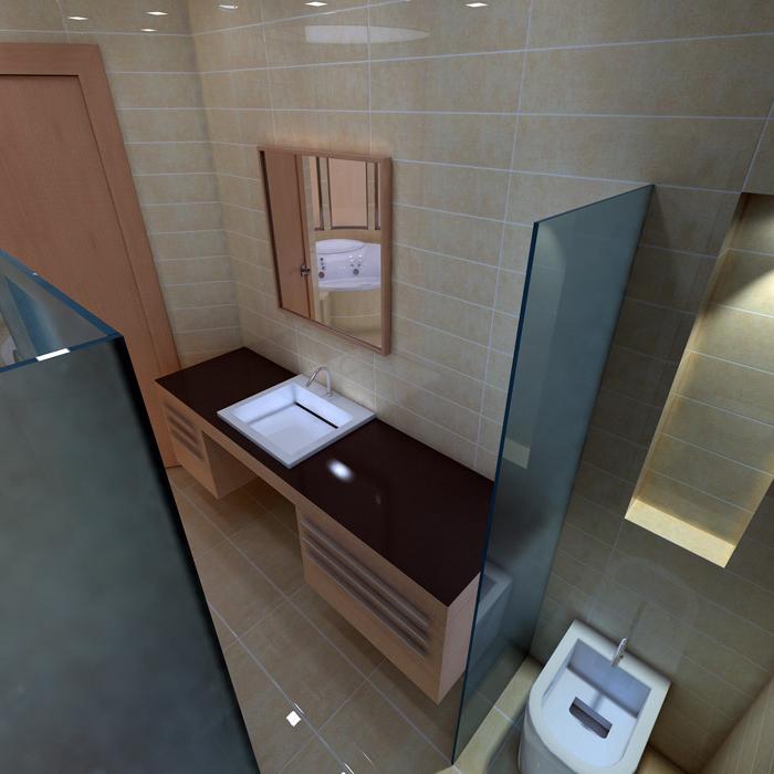Квартира. ванная из проекта , фото №1459