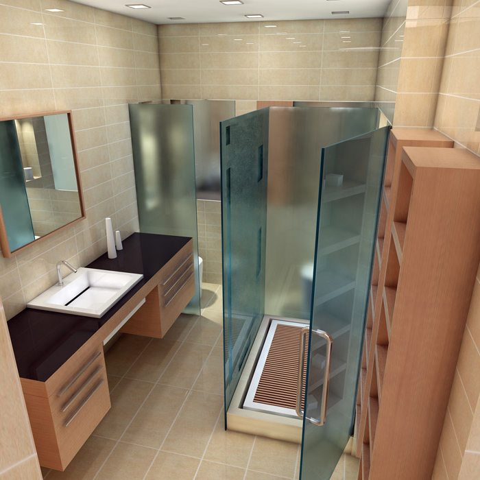 Квартира. ванная из проекта , фото №1460