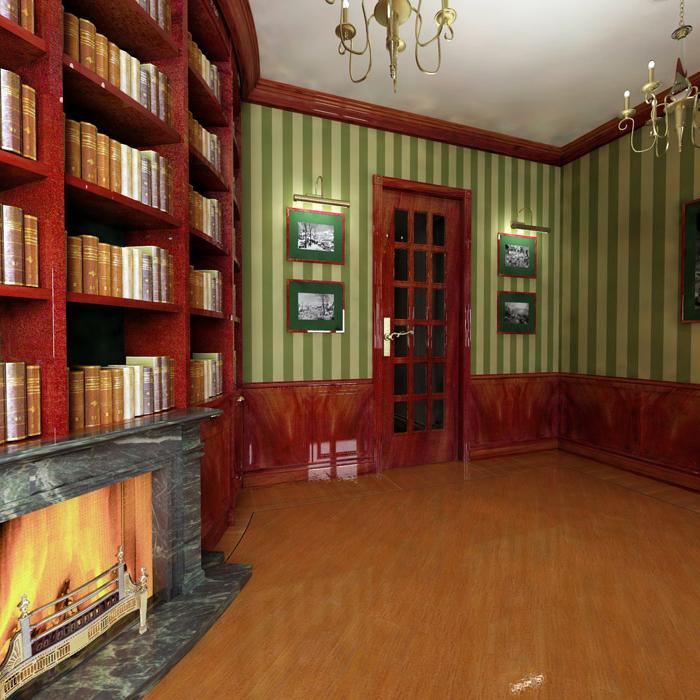 Квартира. библиотека из проекта , фото №5818