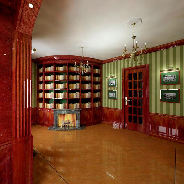 Квартира. библиотека из проекта , фото №5815
