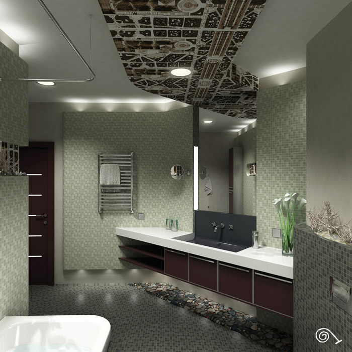 Квартира. ванная из проекта , фото №1382