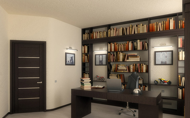 Фото № 195 кабинет библиотека  Квартира