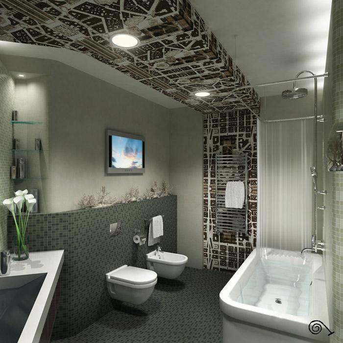 Квартира. ванная из проекта , фото №2125