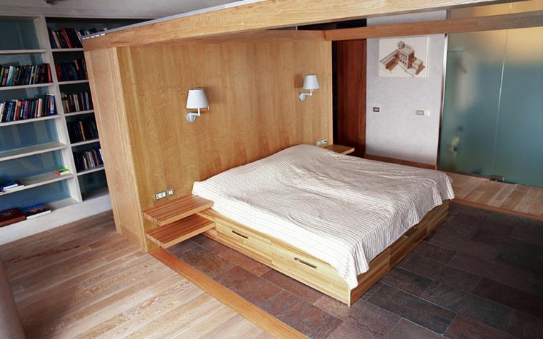 Квартира. спальня из проекта , фото №1585