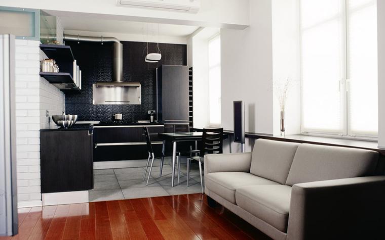 Квартира. кухня из проекта , фото №1851