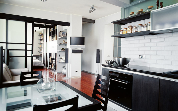 Квартира. кухня из проекта , фото №1852