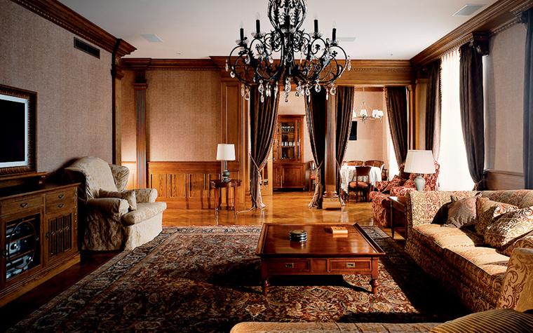 интерьер гостиной - фото № 3904