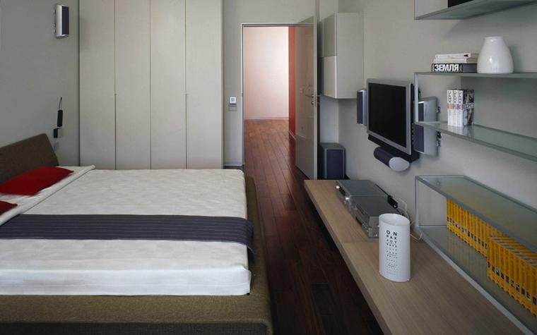 Квартира. спальня из проекта , фото №5555