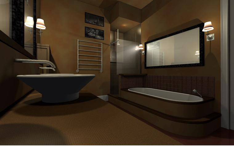интерьер ванной - фото № 2420