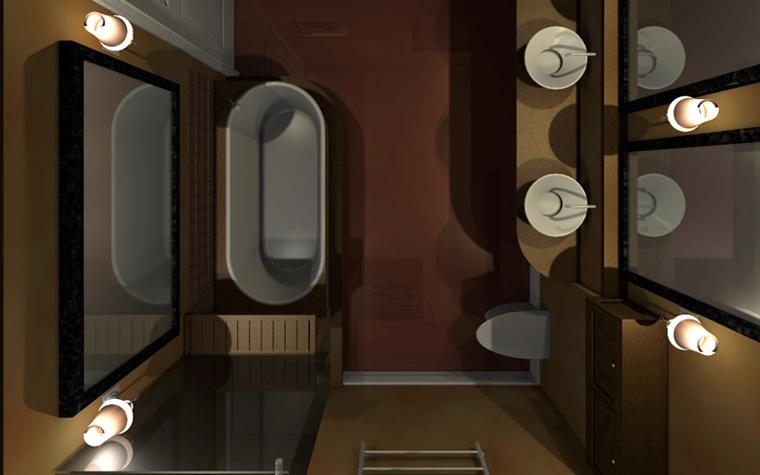 интерьер ванной - фото № 2422