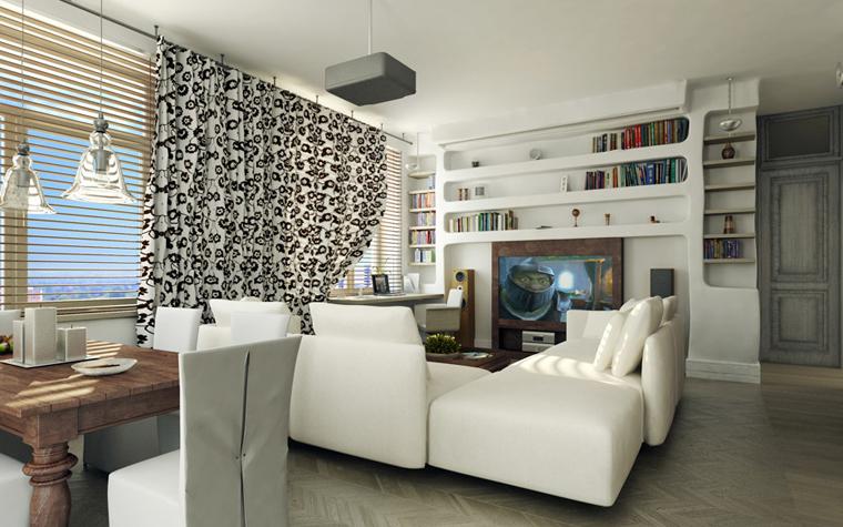 Квартира. гостиная из проекта , фото №2408