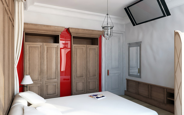 Квартира. спальня из проекта , фото №2412