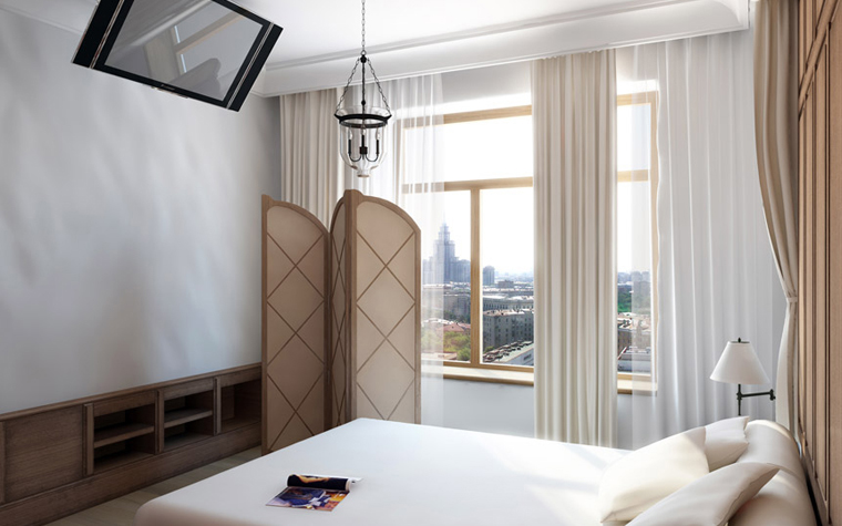 Квартира. спальня из проекта , фото №2413
