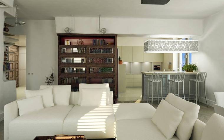 Квартира. гостиная из проекта , фото №2409
