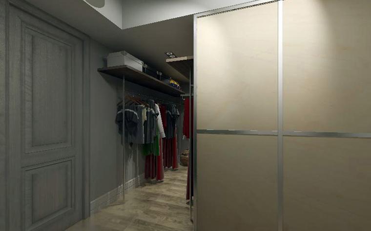 Квартира. гардеробная из проекта , фото №2426