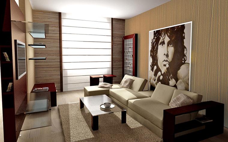 Квартира. гостиная из проекта , фото №2635