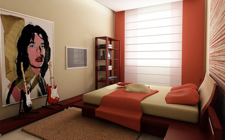 Квартира. спальня из проекта , фото №2637