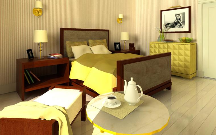 Квартира. спальня из проекта , фото №2644