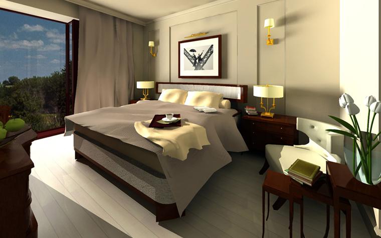 Квартира. спальня из проекта , фото №2645