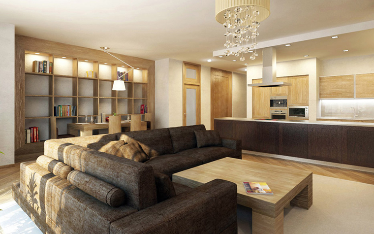 Квартира. гостиная из проекта , фото №5408