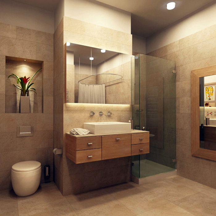 интерьер ванной - фото № 7790